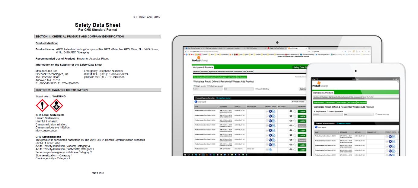 sikkerhetsdatablad i ProductXchange